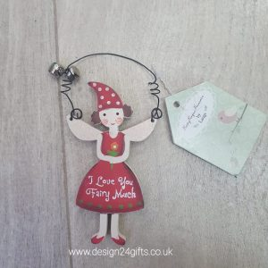 'I Love You Fairy Much' Small Woodland Fairy Hanging Plaque - Langs