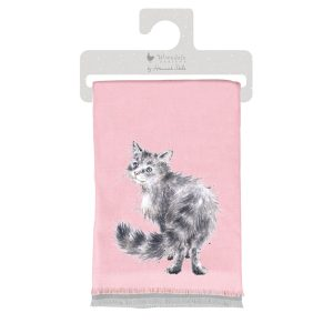 WSCF005 Glamour Puss Cat Winter Scarf - Wrendale Designs