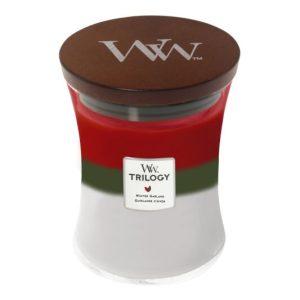 WoodWick Winter Garland Trilogy Medium Hourglass Candle, 275g