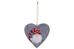 Gonk Heart Hanger - Langs