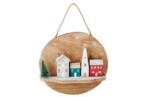 Handmade Christmas Village Hanging Plaque