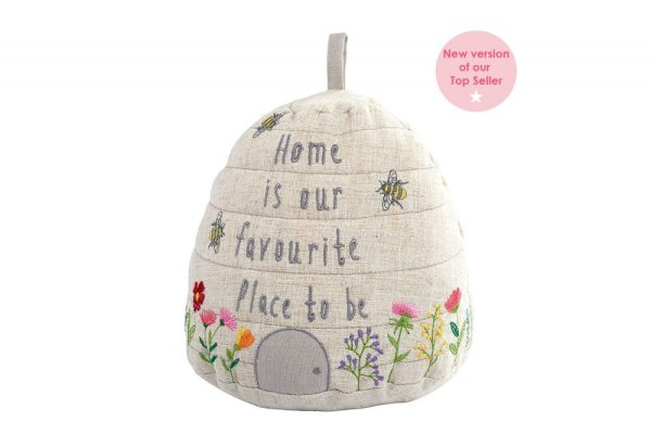 'Home Is Our Favourite Place To Be' Bee Beehive Doorstop - Langs
