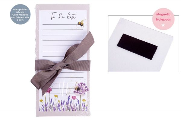Floral Bee Magnetic Shopping List Pad - Langs