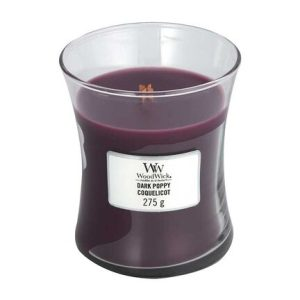 WoodWick Dark Poppy Medium Hourglass Candle, 275g