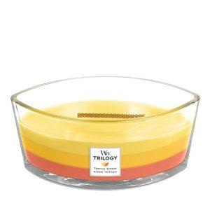 WoodWick HearthWick Trilogy Tropical Sunrise Ellipse Candle, 453g