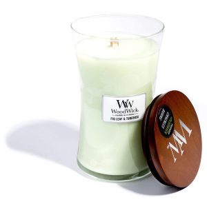 WoodWick Fig Leaf and Tuberose Large Hourglass Candle, 604g