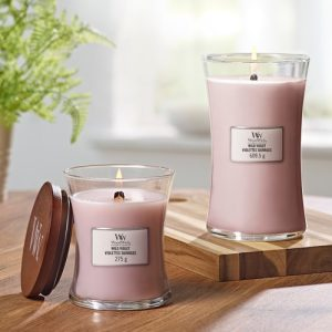 WoodWick Wild Violet Large Hourglass Candle, 604g