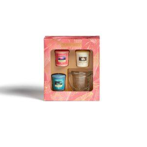 ankee Candle 3 Votive Candle & Holder Gift Set - Last Paradise