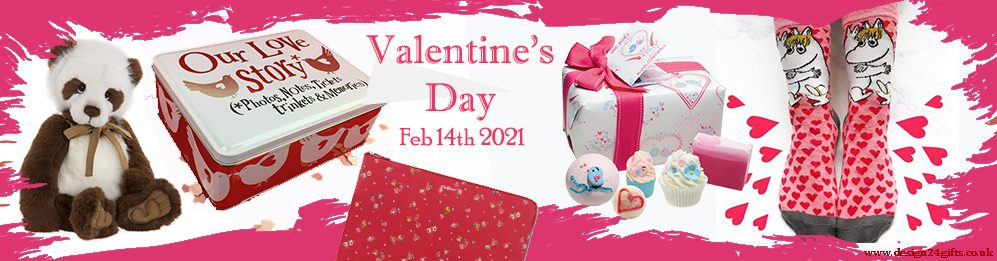design 24 gifts valentines day 2021 banner