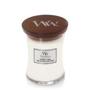 WoodWick Coconut and Tonka Medium Hourglass Candle, 275g