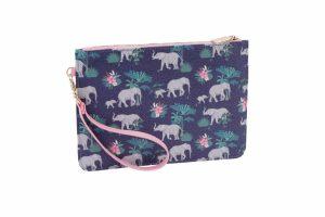 Jungle Elephant Beauty Bag