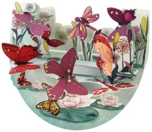 Santoro Butterflies and Insects Popnrock 3D Pop-Up Card - Greetings and Birthday Card