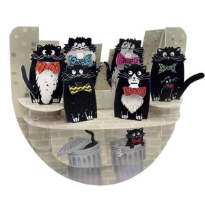 Santoro Cats with Bowties PopnRock 3D Pop-Up Card - Greetings and Birthday Card