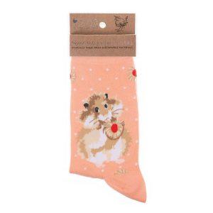 'Diet Starts Tomorrow' Hamster Socks - Wrendale Designs