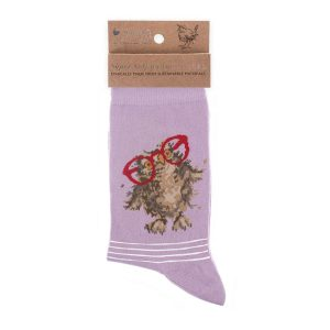'Spectacular' Purple Owl Socks - Wrendale Designs