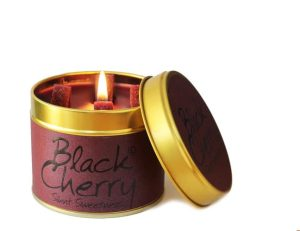 Lily-Flame Black Cherry Scented Candle Tin