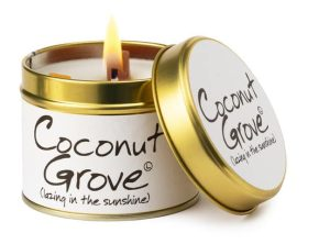 Lily-Flame Coconut Grove Scented Candle Tin