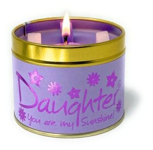 Lily-Flame Daughter Scented Candle Tin