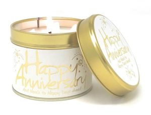 Lily-Flame Happy Anniversary Scented Candle Tin
