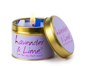 Lily-Flame Lavender & Lime Scented Candle Tin
