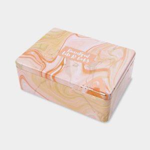 'Beautiful Bits and Bobs' Pink Marble Hinged Tin - Rachel Ellen Designs