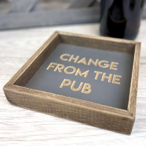 Change From The Pub Wooden Coin Tray - Langs