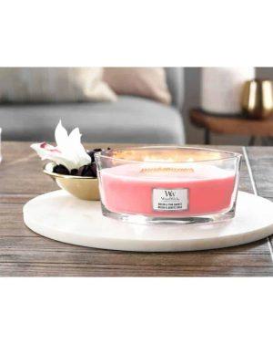 WoodWick HearthWick Melon and Pink Quartz Ellipse Candle, 453g