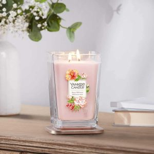 Yankee Candle Elevation Collection - Rose Hibiscus - Large 2-Wick Square Candle