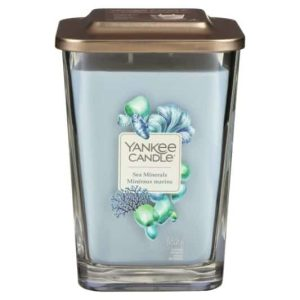 Yankee Candle Elevation Collection – Sea Minerals - Large 2-Wick Square Candle