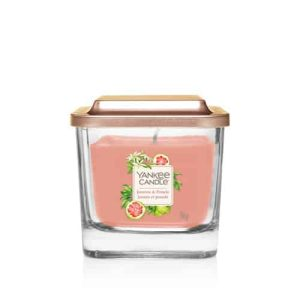 Yankee Candle Elevation Collection - Jasmine and Pomelo - Small 1-Wick Square Candle