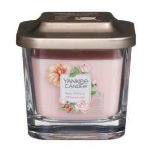 Yankee Candle Elevation Collection - Rose Hibiscus - Small 1-Wick Square Candle