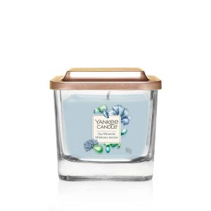 Yankee Candle Elevation Collection – Sea Minerals - Small 1-Wick Square Candle