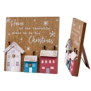 'Home is Our Favourite Place to be For Christmas' 3D House Easel Plaque - Langs