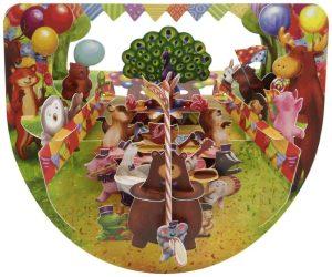 Santoro Animal Carnival Street Parade PopnRock 3D Pop-Up Card - Greetings and Birthday Card