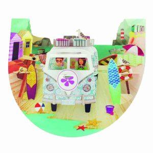 Santoro Camping Van Beach Popnrock 3D Pop-Up Card - Greetings and Birthday Card