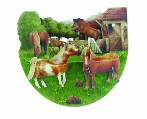 Santoro Ponies PopnRock 3D Pop-Up Card - Greetings and Birthday Card