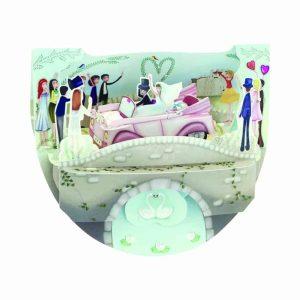 Santoro Wedding Car Popnrock 3D Pop-Up Card - Greetings and Birthday Card